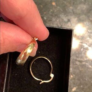 Jewelry - Vintage 14k gold hoop earrings